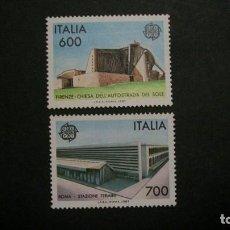 Timbres: /21-03/-ITALIA-1987-Y&T 1742/3 EN NUEVO SIN FIJASELLOS(**MNH). Lote 197798023