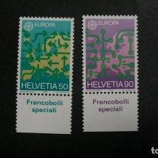Timbres: /21-03/-SUIZA-1988-Y&T 1298/9 EN NUEVO SIN FIJASELLOS(**MNH). Lote 197798293