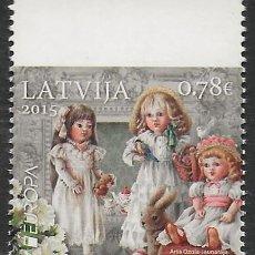 Sellos: LETONIA 2015 EUROPA CEPT SELLO DEL CARNET NUEVO MNH. Lote 198945680