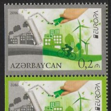 Sellos: AZERBAIYÁN 2016 EUROPA CEPT SET DEL CARNET NUEVO MNH. Lote 198947526