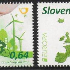 Sellos: ESLOVENIA 2016 EUROPA CEPT NUEVO MNH. Lote 198948252