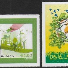 Sellos: ITALIA 2016 EUROPA CEPT AUTOADHESIVOS NUEVO MNH. Lote 198948703