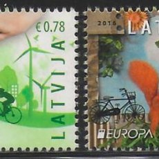 Sellos: LETONIA 2016 EUROPA CEPT NUEVO MNH. Lote 198948785