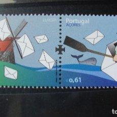 Sellos: PORTUGAL (AZORES) AÑO 2008 NUEVOS SN CHARNELAS. Lote 199849671