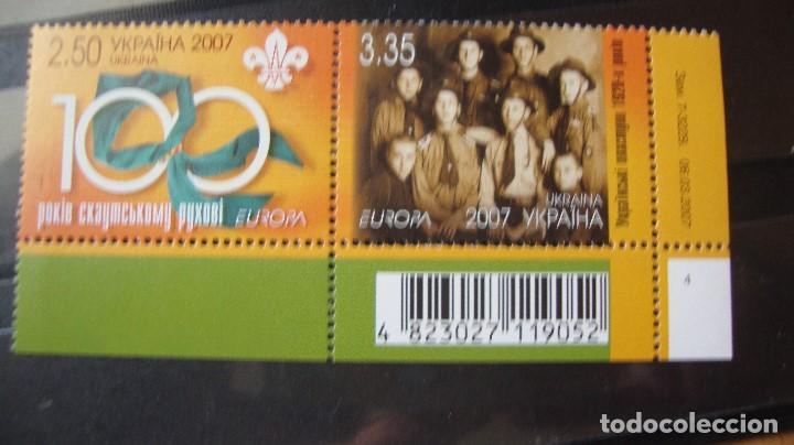 UCRANIA AÑO 2007 TEMA EUROPA NUEVO SIN CHARNELAS (Sellos - Temáticas - Europa Cept)