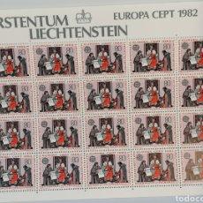 Sellos: EUROPA CEPT LEICHESTEIN 1982 MINI PLIEGO DE 20 SERIES NUEVO YVERT 732/3. Lote 200394437