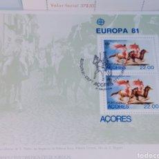 Sellos: EUROPA 1981 PORTUGAL AZORES MATASELLOS CONMEMORATIVOS. Lote 200762616