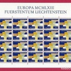 Sellos: LIECHTENSTEIN.EUROPA 1963. 20 SELLOS.. Lote 201776888