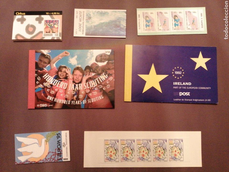 LOTE DE 7 CARNETS DEL TEMA EUROPA NUEVOS (Sellos - Temáticas - Europa Cept)