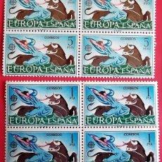 Francobolli: ESPAÑA. 1747/48 EUROPA-CEPT: EL RAPTO DE EUROPA, EN BLOQUE DE CUATRO. 1966. SELLOS NUEVOS Y NUMERACI. Lote 203761936
