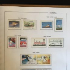Sellos: TEMA EUROPA, EUROPA (CEPT). COLECCIÓN EN DOS ÁLBUMES CON SELLOS Y HOJAS BLOQUE EN NUEVO.. Lote 205791660