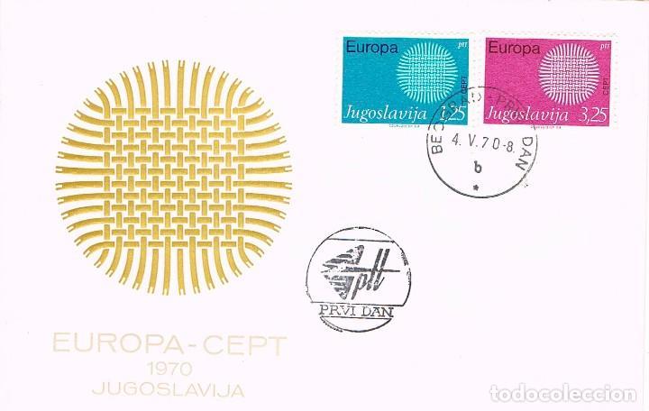 YUGOESLAVIA IVERT Nº 1269/70, EUROPA 1970, PRIMER DIA DE 4-5-1970 (Sellos - Temáticas - Europa Cept)