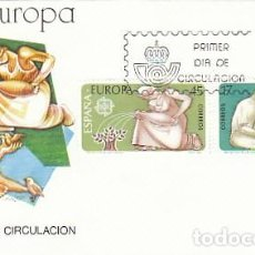 Sellos: EDIFIL 2847/8, EUROPA 1986, PROTECCION DE LA NATURALEZA Y MEDIO AMBIENTE, PRIMER DIA 5-5-1986 SFC. Lote 206364163