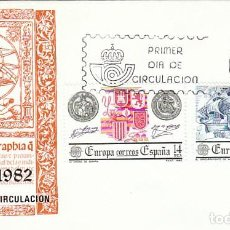 Sellos: EDIFIL 2657/8, EUROPA, EL DESCUBRIMIENTO DE AMERICA, PRIMER DIA DE 3-5-1982 SFC. Lote 206365481