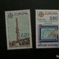 Timbres: /30.05/-ANDORRA FRANCESA-1988-Y&T 369/70 SERIE COMPLETA EN NUEVO(**MNH). Lote 206481010