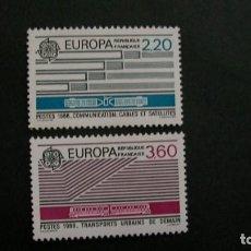 Sellos: /30.05/-FRANCIA-1988-Y&T 2531/2 SERIE COMPLETA EN NUEVO(**MNH). Lote 206481161
