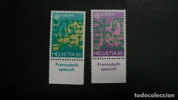 /30.05/-SUIZA-1988-Y&T 1298/9 EN NUEVO SIN FIJASELLOS(**MNH) (Sellos - Temáticas - Europa Cept)