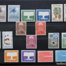 Timbres: EUROPA CEPT AÑO 1957 COMPLETO CON 17 VALORES, NUEVOS SIN FIJASELLOS, MNH, CON LA DIFICIL LUXEMBURGO. Lote 206837876
