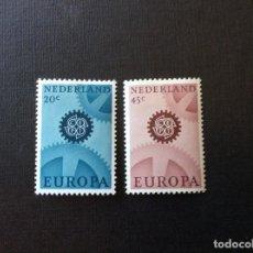 Sellos: HOLANDA Nº YVERT 850/1** AÑO 1967. EUROPA. SERIE CON CHARNELA. Lote 210524601