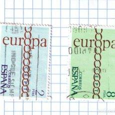 Sellos: EUROPA CEPT ESPAÑA 1971 -EDIFIL 2031/32 PAREJA DE SELLOS USADOS. Lote 210978787