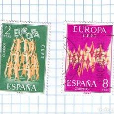 Sellos: EUROPA CEPT ESPAÑA 1972 -EDIFIL 2090/91 PAREJA DE SELLOS USADOS. Lote 210978825