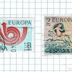 Sellos: EUROPA CEPT ESPAÑA 1973 -EDIFIL 2125/26 PAREJA DE SELLOS USADOS. Lote 210978881