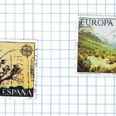 Sellos: EUROPA CEPT ESPAÑA 1977 -EDIFIL 2413/14 PAREJA DE SELLOS USADOS. Lote 210978912