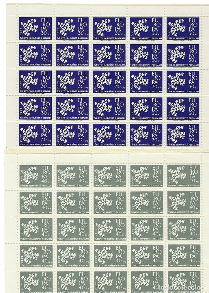 TURQUIA. EUROPA 1961. 25 SERIES. (Sellos - Temáticas - Europa Cept)