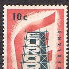 Sellos: HOLANDA IVERT Nº 659, EUROPA 1956, USADO. Lote 213322332