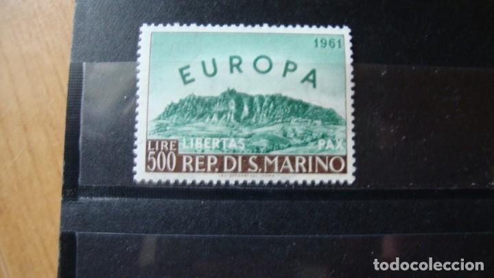 TEMA EIROPA SAN MARINO 1961 SIN CHARNELAS (Sellos - Temáticas - Europa Cept)