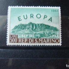Sellos: TEMA EIROPA SAN MARINO 1961 SIN CHARNELAS. Lote 236579415