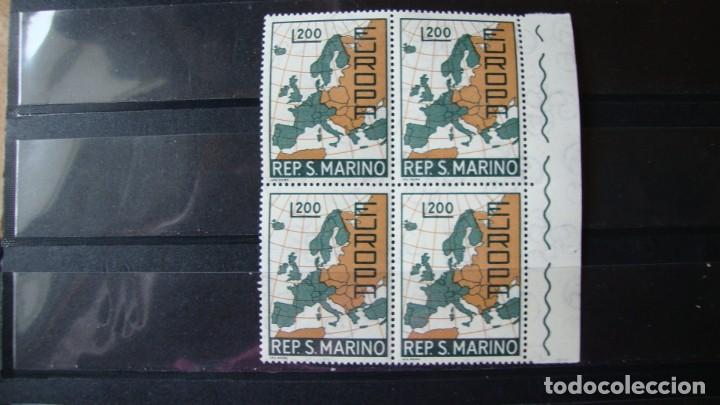 TEMA EIROPA SAN MARINO 1967 BLOQUE DE 4 SIN CHARNELAS (Sellos - Temáticas - Europa Cept)