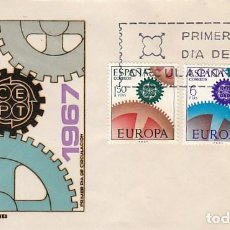 Sellos: EDIFIL 1795/6, EUROPA 1967, PRIMER DIA DE 2-5-1967 EN SOBRE DE SISO. Lote 218401973