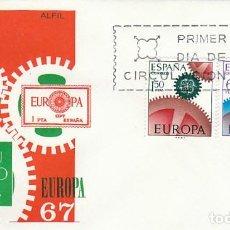 Sellos: EDIFIL 1795/6, EUROPA 1967, PRIMER DIA DE 2-5-1967 EN SOBRE DE SISO. Lote 218402093