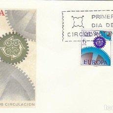 Sellos: EDIFIL 1795/6, EUROPA 1967, PRIMER DIA DE 2-5-1967 EN SOBRE DEL SFC. Lote 218402133