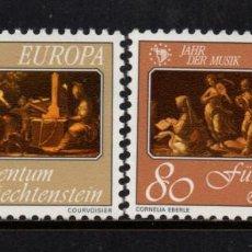 Sellos: LIECHTENSTEIN 807/08** - AÑO 1985 - EUROPA AÑO EUROPEO DE LA MUSICA. Lote 218406048