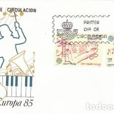 Sellos: EDIFIL 2788/9, EUROPA 1985, MUSICA:CABEZON Y JOVEN ORQUESTA ESPAÑOLA PRIMER DIA 3-5-1985 SFC. Lote 218510533