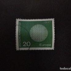 Sellos: ALEMANIA FEDERAL 1970. EUROPA (C.E.P.T.) 1970 - FLAMING SUN. YT:DE 483,. Lote 222393278