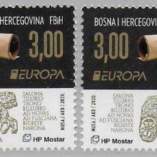 Sellos: BOSNIA CROATA 2020 EUROPA CEPT SET NUEVO MNH. Lote 288541683
