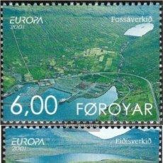 Sellos: FEROE 2001 IVERT 398/9 *** EUROPA - EL AGUA RIQUEZA NATURAL. Lote 223918930
