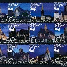 Sellos: GUERNESEY 2009 IVERT 1282/93 *** NAVIDAD - IGLESIAS - MONUMENTOS. Lote 226310010