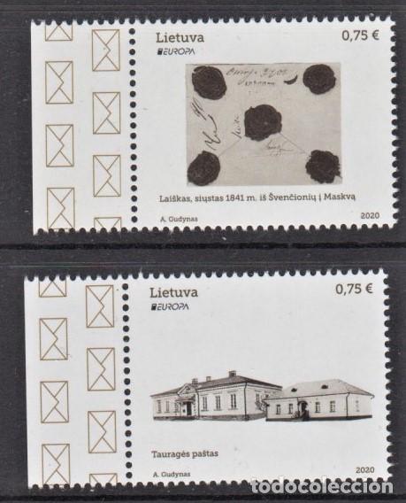 28.- LITUANIA 2020 EUROPA 2020 ANTIGUAS RUTAS POSTALES (Sellos - Temáticas - Europa Cept)