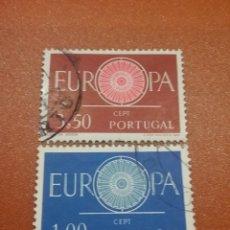 Timbres: SELLOS PORTUGAL MTDOS/1960/EUROPA/CEPT/RUEDA/SERVICIOS/UNION/POSTAL/EMBLEMA/CORREOS. Lote 229725505