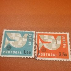 Timbres: SELLOS PORTUGAL MTDOS/1963/EUROPA/CEPT/SIMBOLO/EMBLEMA/PALOMA/ESTILIZADA/PUZLE/AVES/PAJAROS/FAUNA. Lote 229728870