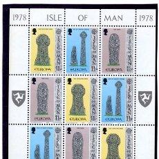 Sellos: ISLA DE MAN - MINI HOJA EUROPA 1978 - NUEVA. Lote 231445645