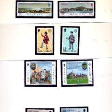 Sellos: ISLA DE MAN - EUROPA 1977 + 1979 + 1980 + 1981 + 1983 - SERIES COMPLETAS NUEVAS. Lote 231446655