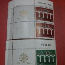 Sellos: SELLOS MALTA NUEVOS/1984/25ANIV/EUROPA/CEPT/PUENTE/ARTE/ARQUITECTURA/DISEÑO/COMUN/UNION/POSTAL. Lote 234060650