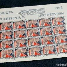 Sellos: LIECHTENSTEIN 20 SELLOS EUROPA AÑO 1962 NUEVO PERFECTO *** HOJA PLIEGO. Lote 235507710