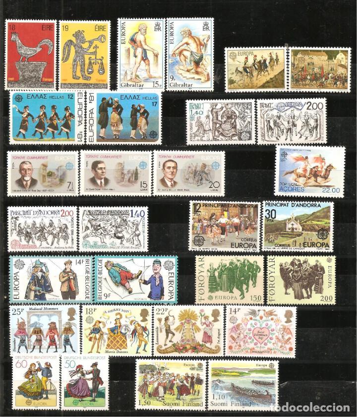 Sellos: LOTE TEMA EUROPA 1981, UNA SERIE DE CADA + HB DE PORTUGAL+MONACO+AZORES+MADEIRA (NO ES AÑO COMPLETO) - Foto 4 - 235809470