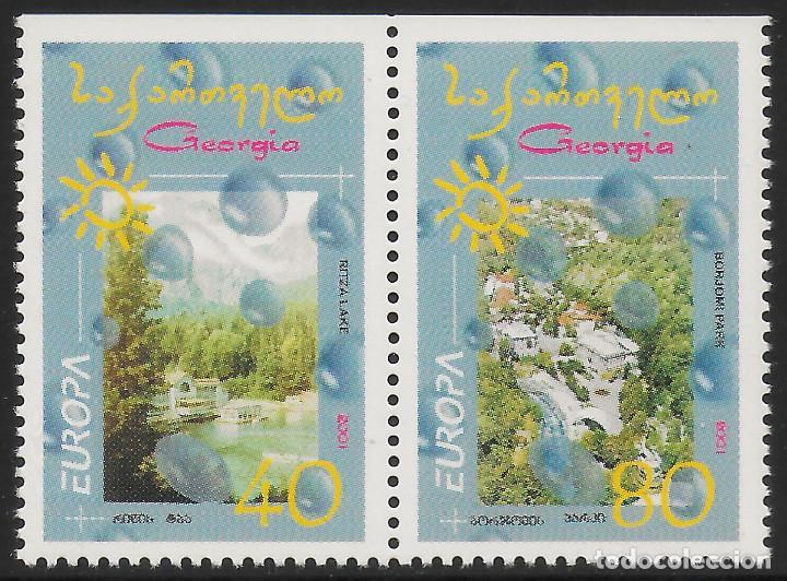 GEORGIA 2001 EUROPA CEPT SET A DEL CARNET NUEVO MNH (Sellos - Temáticas - Europa Cept)